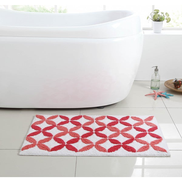 VCNY Pinwheel 100-percent Cotton Bath Rug