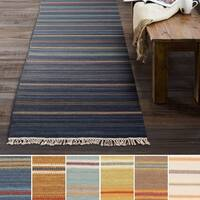 "Hand-Woven Lisieux Wool/Cotton Area Rug - 2'6"" x 8'"