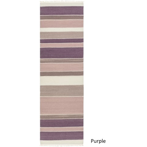 Porch & Den Indianola Hand-Woven Wool/ Cotton Area Rug