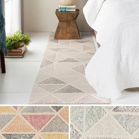 Porch & Den Belden Hand-tufted Wool Triangle Runner Rug