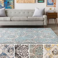 Enid Distressed Moroccan Medallions Area Rug (2'2 x 4') - 2'2 x 4'