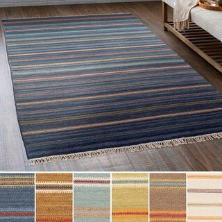 Hand-Woven Lisieux Wool/Cotton Area Rug