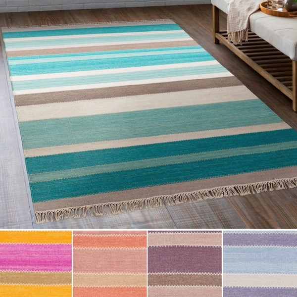 Hand-Woven Liora Wool/Cotton Area Rug - 2' x 3'