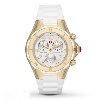 Michele Women's MWW12F000077 'Tahitian Jelly Bean' Chronograph White Rubber Watch