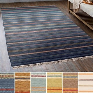 Hand-Woven Lisieux Wool/Cotton Area Rug - 8' x 10'