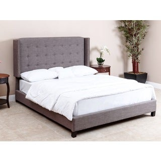 ABBYSON LIVING Parker Tufted Grey Linen Queen Bed