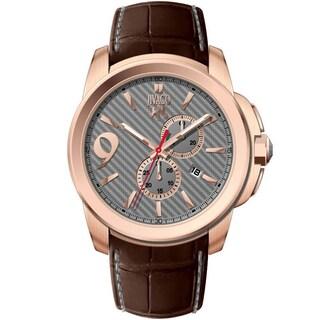Jivago Men's JV1512 Gliese Round Brown Leather Strap Watch