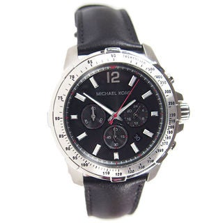 Michael Kors Men's MK8379 Chronograph Black Leather Watch
