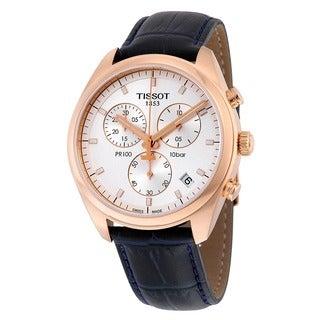 Tissot Men's T1014173603100 'PR 100' Chronograph Black Leather Watch