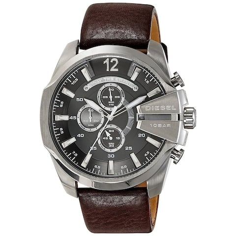 Diesel Men's DZ4290 'Chief' Chronograph Brown Leather Watch
