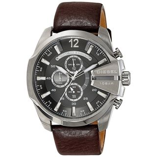 Link to Diesel Men's DZ4290 'Chief' Chronograph Brown Leather Watch Similar Items in Men's Watches