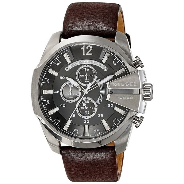 Diesel Men's DZ4290 'Chief' Chronograph Brown Leather Watch. Opens flyout.
