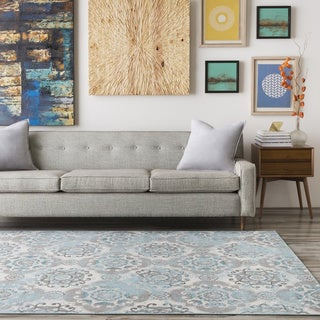 Enid Distressed Moroccan Medallions Rug (2'8 x 5')