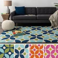 Hand-Hooked Liverpool Area Rug - 4' x 6'