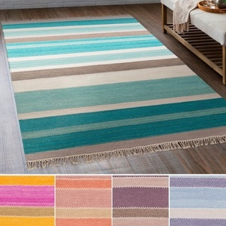 Hand-Woven Liora Wool/Cotton Rug (5' x 7'6)