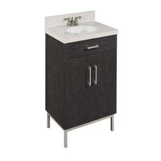 30-In Bradstreet Bath Vanity, Dark Driftwood Finish