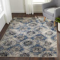 Enid Distressed Moroccan Medallions Area Rug (5'3 x 7'6)