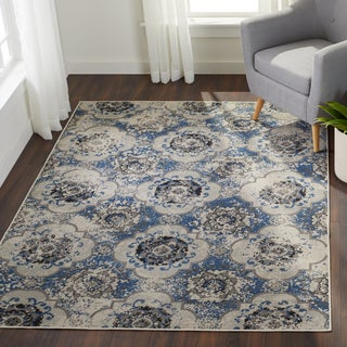 Enid Distressed Moroccan Medallions Area Rug (5'3 x 7'6) (4 options available)