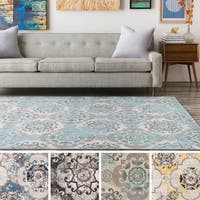 Enid Distressed Moroccan Medallions Area Rug (6'9 x 9'8) - 6'9 x 9'8
