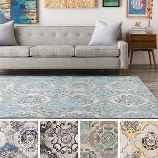 Enid Distressed Moroccan Medallions Area Rug - 6'9 x 9'8