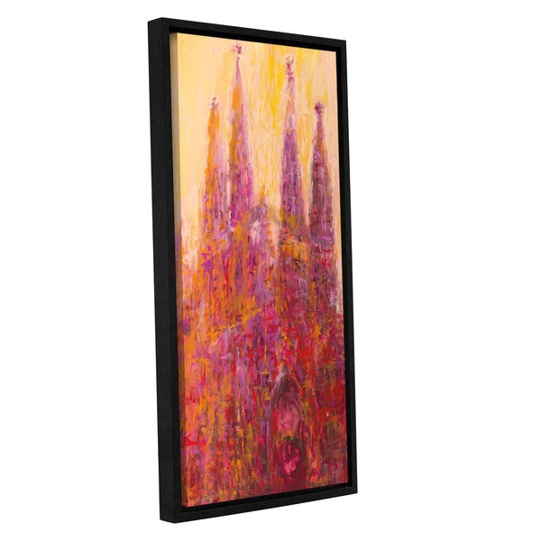 ArtWall JC Pino's Red Barcelona, Gallery Wrapped Floater-framed Canvas