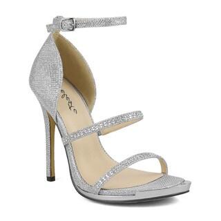 Celeste Queeny-04Skinny Ankle Strap Women's Dress Sandals