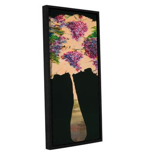 ArtWall JC Pino's Abstract Floral I, Gallery Wrapped Floater-framed Canvas