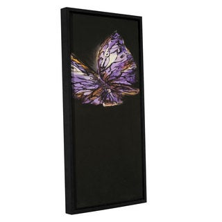 ArtWall JC Pino's Purple Butterfly, Gallery Wrapped Floater-framed Canvas