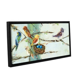 ArtWall Ninalee Irani's Birds In Trees, Gallery Wrapped Floater-framed Canvas