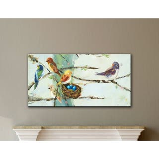 The Gray Barn Ninalee Irani's Birds in Trees, Gallery Wrapped Canvas