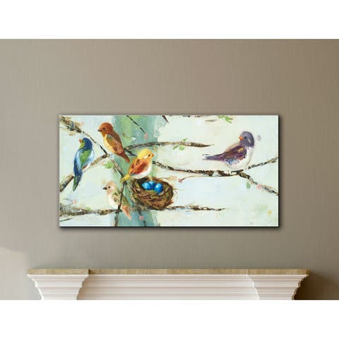 The Gray Barn Stormy Grain Ninalee Irani's Birds In Trees, Gallery Wrapped Canvas