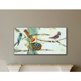 ArtWall Ninalee Irani's Birds In Trees, Gallery Wrapped Canvas