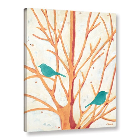 ArtWall Ninalee Irani's Two Birds In Orange Tree, Gallery Wrapped Canvas