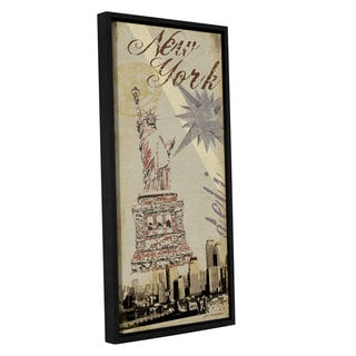 ArtWall Jo Moulton's New York, Gallery Wrapped Floater-framed Canvas