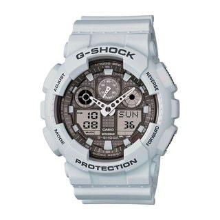 Casio G-Shock Men's GA100LG-8ACR Analog-Digital Dial Matte Grey Resin Watch