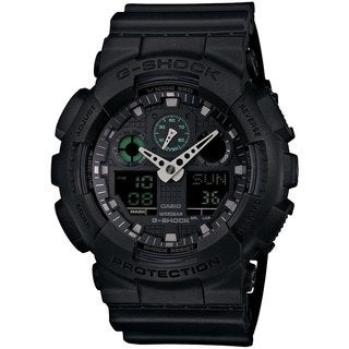 Casio G-Shock Men's GA100MB-1ACR Analog-Digital Dial Black Resin Watch