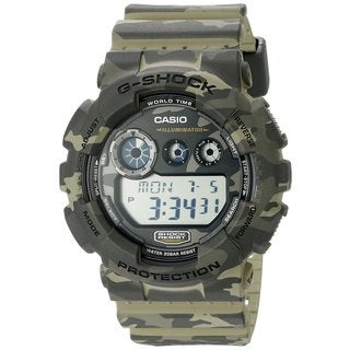 Casio G-Shock Men's GD120CM-5CR Digital Dial Camouflage Resin Watch