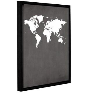 ArtWall Jo Moulton's Map, Gallery Wrapped Floater-framed Canvas