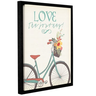 ArtWall Jo Moulton's Love The Journey, Gallery Wrapped Floater-framed Canvas