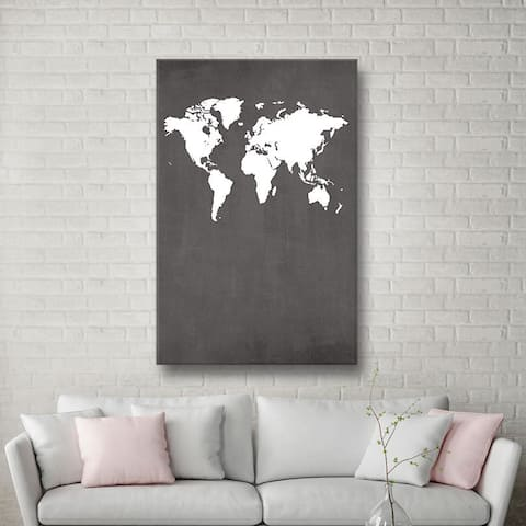 ArtWall Jo Moulton's Map, Gallery Wrapped Canvas