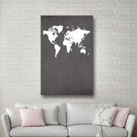 ArtWall Jo Moulton's Map, Gallery Wrapped Canvas
