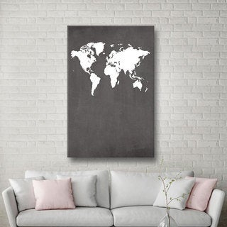 ArtWall Jo Moultonu0027s Map, Gallery Wrapped Canvas