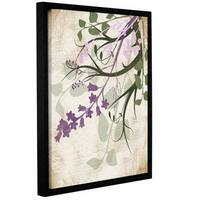 ArtWall Jennifer Pugh's Lavender And Sage Flourish II, Gallery Wrapped Floater-framed Canvas