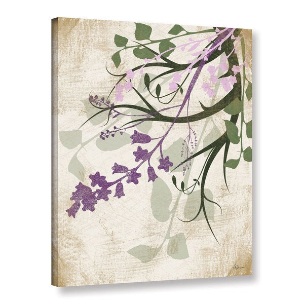 ArtWall Jennifer Pugh's Lavender And Sage Flourish II, Gallery Wrapped Canvas