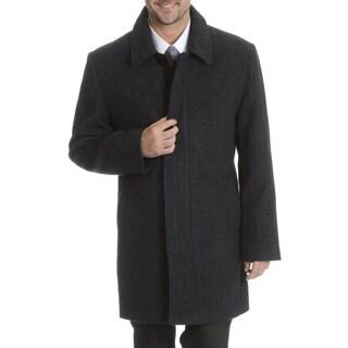 Steve Harvey Men's Grey Weave Pattern Coat