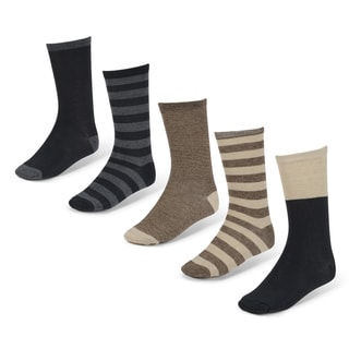 Vance Co. Men's Marled 5 pk Crew Socks