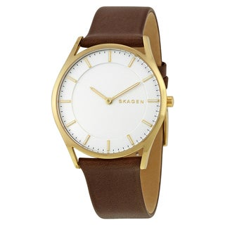 Skagen Men's SKW6225 'Holst Slim' Brown Leather Watch