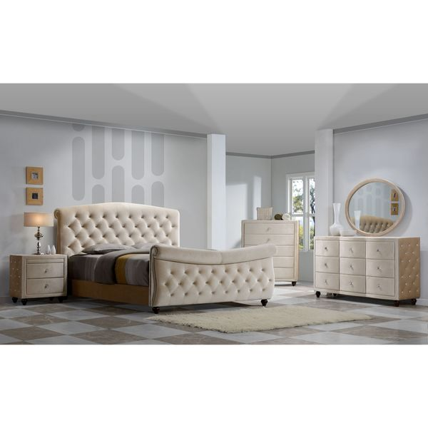 Shop Diamond Sleigh Bed Bedroom Set Free Shipping Today