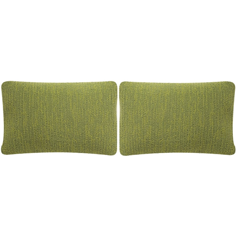 Shop Safavieh Soleil Solid Indoor/ Outdoor Tropical Green 12-inch x 20-inch Throw Pillows (Set of 2) - 10991700