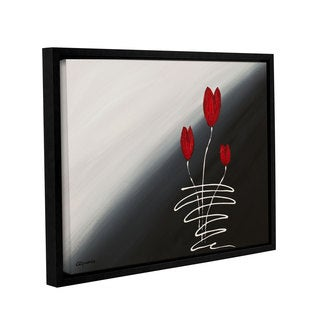 Carmen Guedez's Red Tulips, Gallery Wrapped Floater-framed Canvas